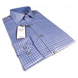 Blue Check Business Shirt