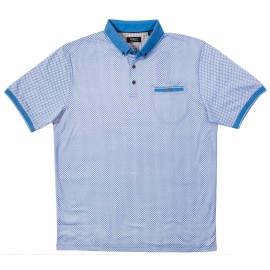 Pale Blue Polo w/Pocket