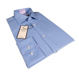 Two Tone blue business shirt