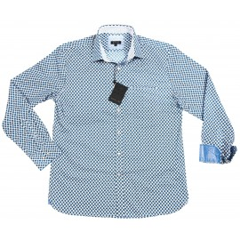 Blue Long Sleeved Cotton Shirt