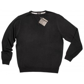 Merino V-Neck Knit_ Black.