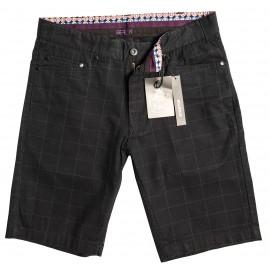 WideCheck Black Short