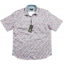 Cotton Multi-Coloured Spot Short Sleeve