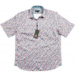 Cotton Multi-Coloured Spot Short Sleeve